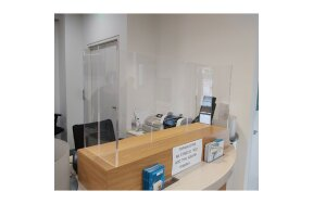 PROTECTION PLEXIGLASS BARRIER FOR OFFICES - RECEPTIONS